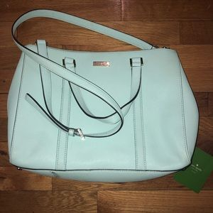 Kate spade baby blue bag with crossbody strap